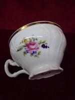 BERNADOTTE cseh porcelán teáscsésze, rózsa mintával.
