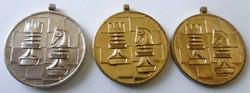 Kitüntetés Sport /Sakk/ arany és ezüstérem UNC
