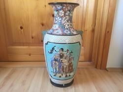 Japán kerámia padlóváza váza sárkány fogóval