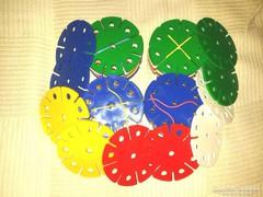 DORKA 1 retro műanyag korong építő játék