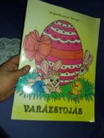 Régi Képcsarnokos gyermek Húsvéti kifestő foglalkoztató könyv füzet kiváló állapotban