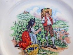Porcelán - LUNÉVILLE - francia tányér- 19 cm - hibátlan - FERTŐTLENÍTVE!