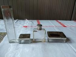 4 db-os üveg pipere készlet