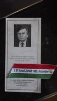 Antall József miniszterelnök ravatalánál emlék
