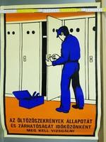"""""""Az öltözőszekrények állapotát és zárhatóságát időközönként meg kell..."""" munkavédelmi plakát (1094)"""
