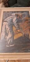 Kapáló férfit ábrázoló olajfestmény