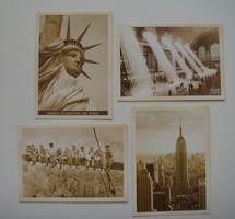 Régies képeslap vintage fotó New York 4 db