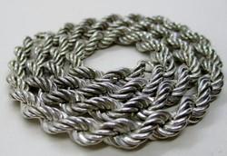 Gyönyörű régi széles sodrott  ezüstnyaklánc