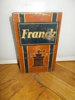 Antik franck kávé fémdoboz pléhdoboz