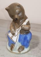 Ritka,régi orosz porcelán figura./ balalajkás medve