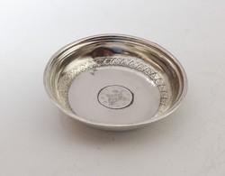 Török érmés ezüst tálka.