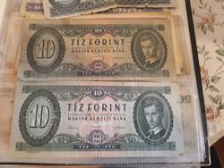 2db régi papír 10forintos