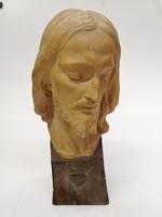 Gyönyörű Jézus büszt, jelzett terrakotta