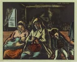 Vadász Endre : Vonaton (Daumier után)