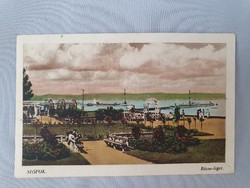 Balaton , Siófok Rózsa-liget régi képeslap levelezőlap