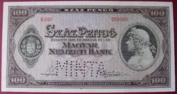 100 pengő 1926 minta UNC