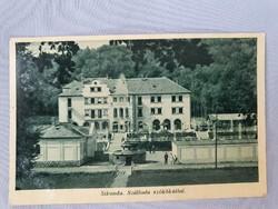Sikonda Szálloda szökőkúttal régi képeslap levelezőlap