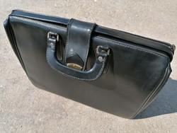 Régi orvosi bőr táska szép (376)