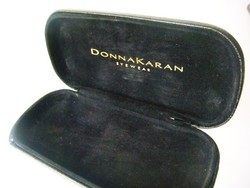 DKNY Donna Karan New York fekete bőr szemüvegtok