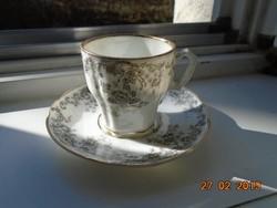 19.sz HIBÁTLAN Birodalmi kézzel számozott dombormintás BAROKK mokkás csésze alátéttel