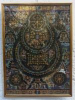 Buddhista selyem kép