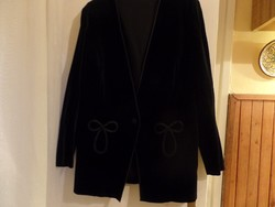 Vintage ,fekete bársonykabát