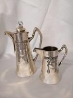 Ezüst kávés készlet ART DECO stílusban. Diánás.
