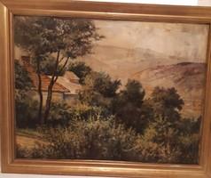 Marczell György  festmény olaj vászon  tájkép
