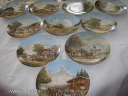 Porcelán különleges Bradex tányérok 7 darab 19,5cm