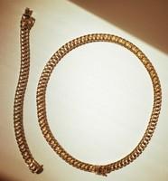 14k arany nyakék és karkötő 40gr