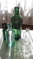 5db régi üveg egyben