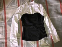 Elegáns Orsay fekete - fehér női felső ing blúz
