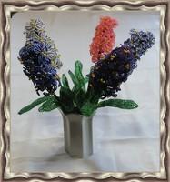 1 szál gyöngyből készített jácint több színben GYV24-02