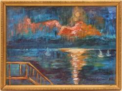 Iványi-Grünwald Béla (1867-1940) Keretezett Olajfestmény