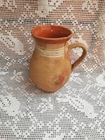 21 cm magas kerámia köcsög, szilke, paraszti dekoráció, nosztalgia darab