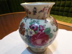 Gyönyörű, rózsa mintájú Bavaria váza. Jelzése az alján: Thomas Ivory Thomas Bavaria Germany