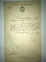 1913 Budapest.Magyar Királyi igazságügyminisztertől. Tekintetes Bozzay Jenő Zalaegerszegi királyi al