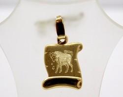 Arany bika horoszkóp medál (ZAL-Au88469)