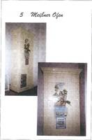 Szecessziós festett MEISSENI cserépkályha 240 cm magas, 1910-ből