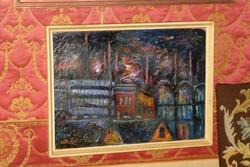 Vén Emil Éjszakai város festménye
