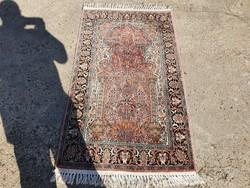 Kashmir kézi csomózású selyem szőnyeg 155x90 cm