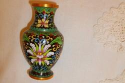 Kínai Rekesz zománc (Cloissoné)  váza