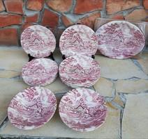 English Style angol porcelánok, porcelán, Lapostányér, pecsenyés, sütistányér, köretes tálak