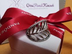 Pandora Trópusi pálmalevél ezüst gyűrű