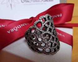 Pandora Csillogó csipke ezüst gyűrű