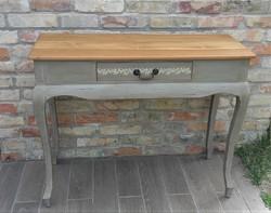 Rusztikus vintage konzolasztal, íróasztal