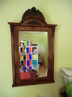 Ónémet tükör 67x107 cm faragott fejrésszel