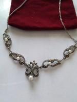 Szecessziós stílusú ezüst nyakék/ingyenes posta /