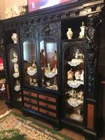 Antik Reneszánsz könyves szekrény!