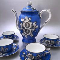 Meisseni porcelán kávéskészlet RITKASÁG